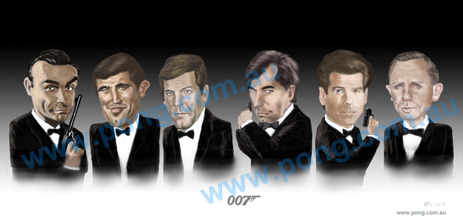 007 james bond caricature