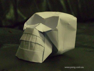 Origami Skull 3d Elvis Sculpture